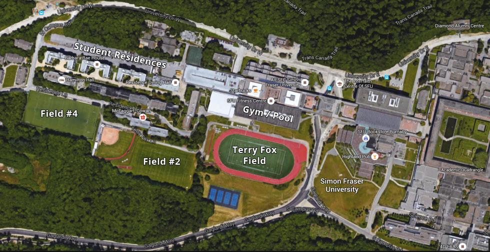 SFU Google Earth Map